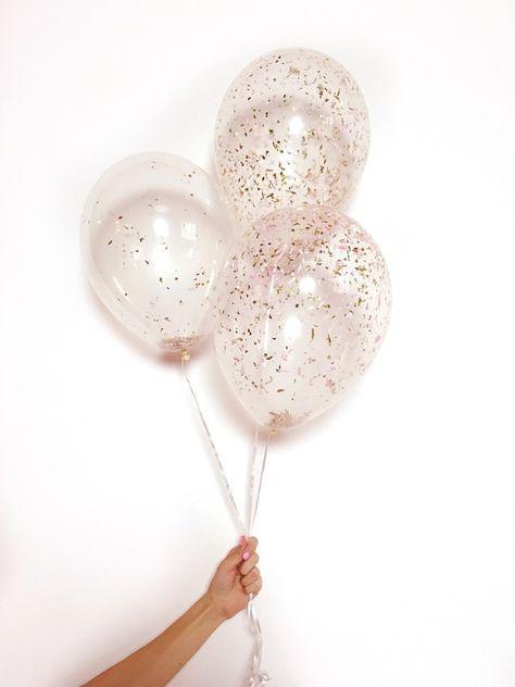 11 U0026quot  Metallic Confetti Filled Latex Balloon